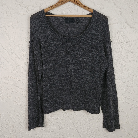 Line Sweaters - Line the Label Scoop Neck Heathered Gray Sweater